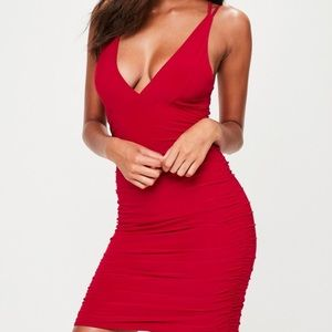 Missguided skinny red dress